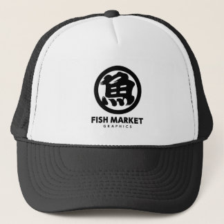 FISH MARKET GRAPHICS LOGO キャップ