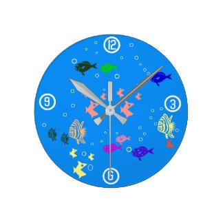 Fishbowl ラウンド壁時計
