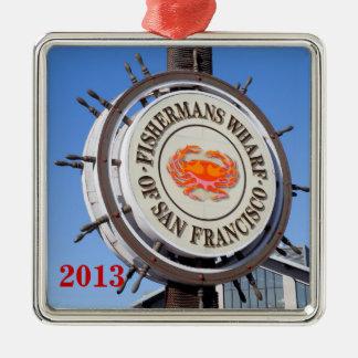 Fishermansの波止場サンフランシスコ メタルオーナメント