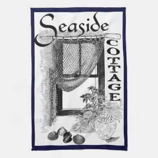 fishermansの海岸のコテッジの窓の台所タオル キッチンタオル