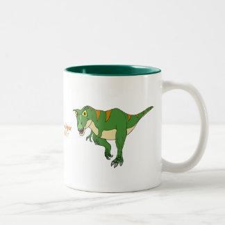 Fishfryは恐竜のコーヒー・マグを設計します ツートーンマグカップ