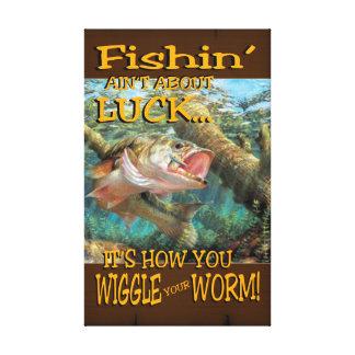Fishinは運の包まれたなキャンバスについてありません キャンバスプリント