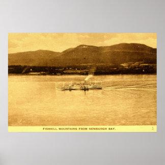 Fishkill山、Newburgh湾、ニューヨークc1915 v ポスター
