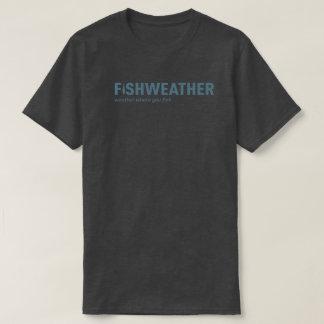 FishWeatherの黒いTシャツ Tシャツ