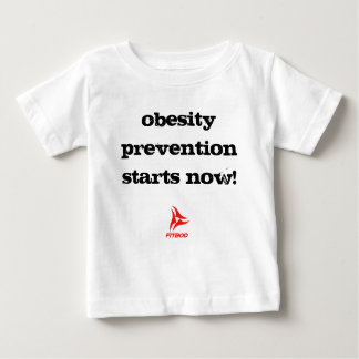 """FITBOD """"今肥満防止開始!"""" ベビーのワイシャツ ベビーTシャツ"""