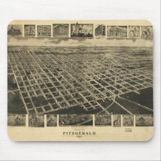 Fitzgerald、ジョージア(1908年)の鳥瞰的な意見 マウスパッド