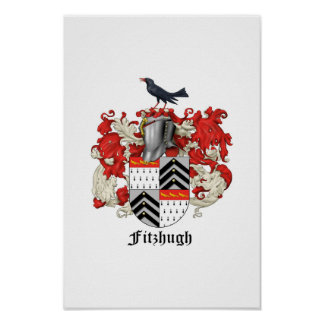 Fitzhugh家族の紋章学- 2 ポスター