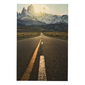 Fitzroy山- Ruta 40への長い道のり ウッドウォールアート