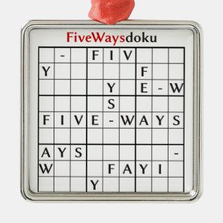 fivewaysdoku メタルオーナメント