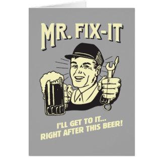 Fixit氏: このビールの後 グリーティングカード