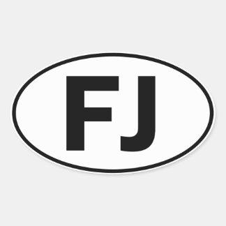 FJの楕円形のアイデンティティの印 楕円形シール