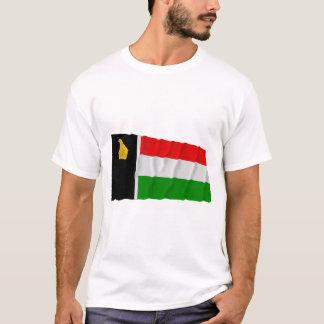 Flag (1979年)を振るジンバブエローデシア tシャツ