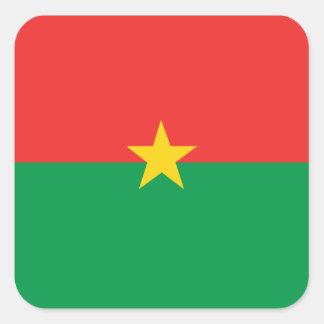 flag_burkina_farso スクエアシール
