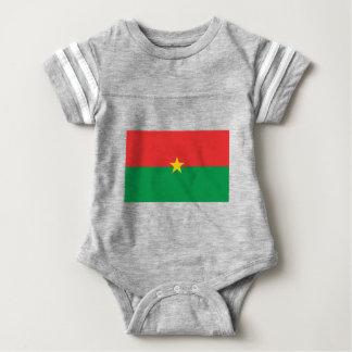 flag_burkina_farso ベビーボディスーツ