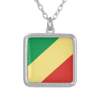 flag_congo シルバープレートネックレス