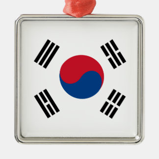 flag_korea メタルオーナメント