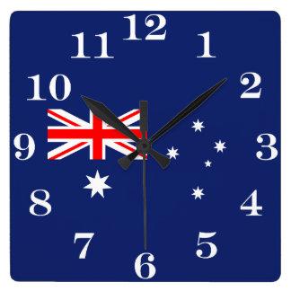 Flag of Australia スクエア壁時計