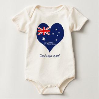 Flag of Australia ベビーボディスーツ