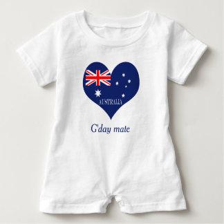 Flag of Australia ベビーロンパース