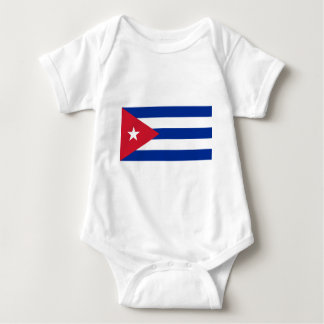 Flag_of_Cuba ベビーボディスーツ