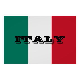 Flag of Italy Italia Italian ポスター
