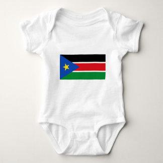 Flag_of_South_Sudan ベビーボディスーツ