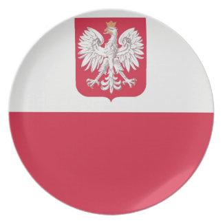 Flaga Polski zのgodłem -ポーランドの旗 プレート