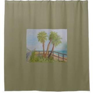 FLAGLERのビーチのシャワー・カーテンのアイア シャワーカーテン