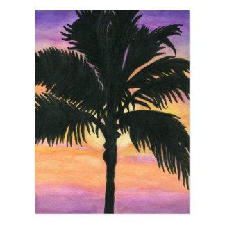 Flaglerのビーチのヤシの木 ポストカード