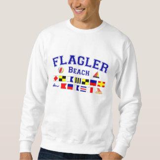 Flaglerのビーチ、FL -航海のなスペリング スウェットシャツ