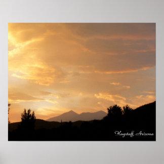 Flagstaffの日没 ポスター