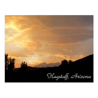 Flagstaffの日没 ポストカード