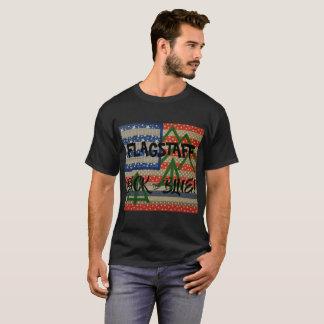Flagstaffの背部黒の青いワイシャツ Tシャツ