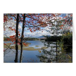 Flagstaff湖メイン、米国 カード