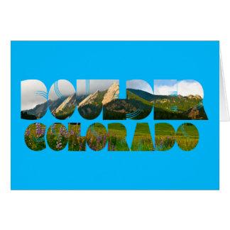 Flaironsの大きい石コロラド州 グリーティングカード