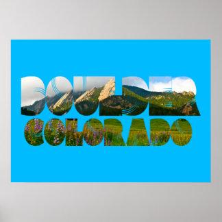 Flaironsの大きい石コロラド州 ポスター