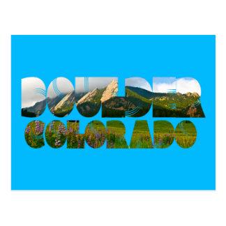Flaironsの大きい石コロラド州 ポストカード