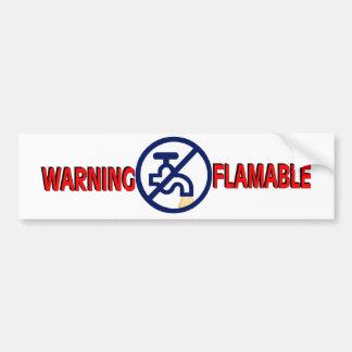 FLAMABLE水 バンパーステッカー
