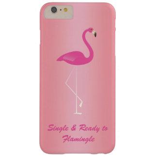 FlamingleのiPhone 6/6sのばら色の金ゴールドに独身の及び準備ができた Barely There iPhone 6 Plus ケース