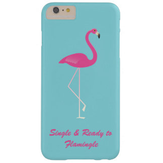 FlamingleのiPhone 6/6sのティール(緑がかった色)に独身の及び準備ができた Barely There iPhone 6 Plus ケース