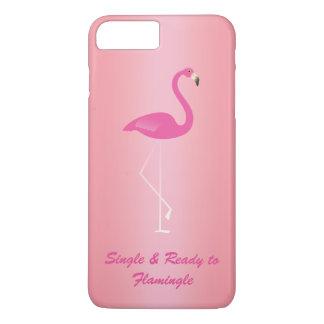 FlamingleのiPhone 7のばら色の金ゴールドに独身の及び準備ができた iPhone 8 Plus/7 Plusケース