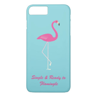 FlamingleのiPhone 7のティール(緑がかった色)に独身の及び準備ができた iPhone 8 Plus/7 Plusケース