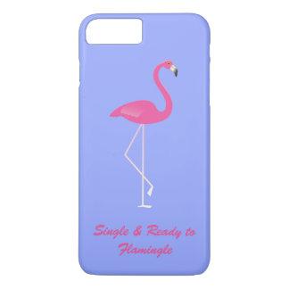 FlamingleのiPhone 7のプラスの薄紫に独身の及び準備ができた iPhone 8 Plus/7 Plusケース