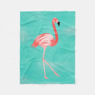 Flamingo Bird フリースブランケット