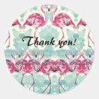 Flamingo Thank you sticker ラウンドシール