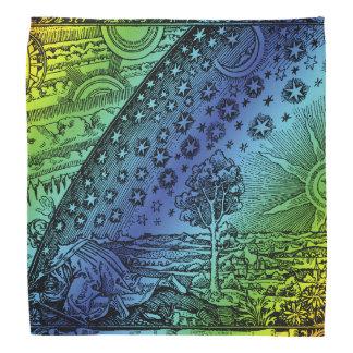 Flammarionの天国および地球の版木、銅版、版画のアートワーク バンダナ