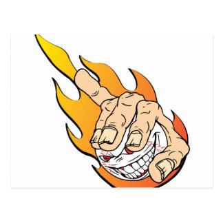Flammingの怒っている野球 ポストカード