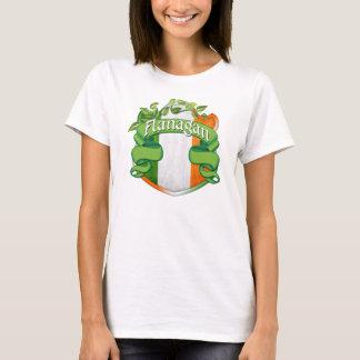 Flanaganのアイルランド人の盾 Tシャツ