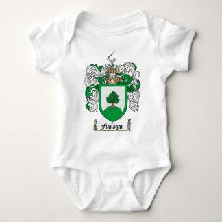 FLANAGANの家紋- FLANAGANの紋章付き外衣 ベビーボディスーツ