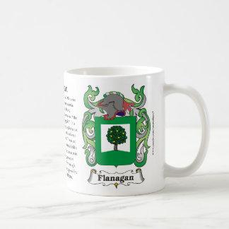 Flanagan、起源、意味および頂上 コーヒーマグカップ